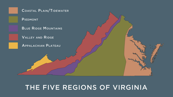 5 regions of virginia - alta land survey