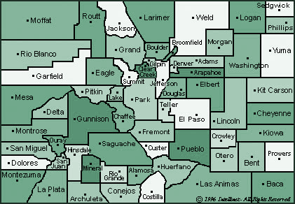 Colorado County Map - ALTALandSurvey.com